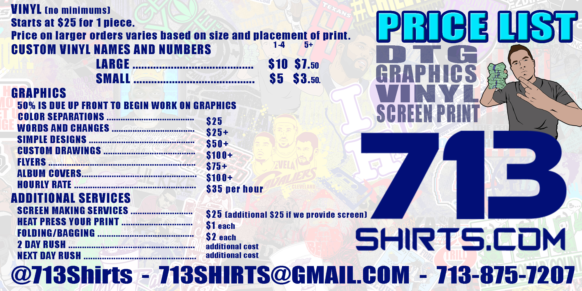 Pricing creative clothing for Cost to screen print t shirts
